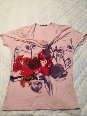 Rosafarbenes GAS Longshirt mit Wasserfallkragen