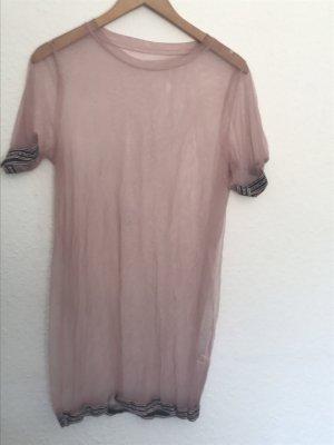 Rosafarbenes Netzlongtop/Kleid // Made in Italy
