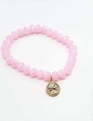 Rosafarbenes Perlenarmband