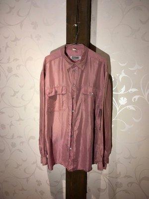 rosafarbenes Seidenhemd