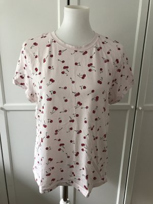 Rosafarbenes T-Shirt mit Kirschen