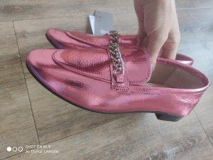 H&M Premium Mocasines rosa Cuero