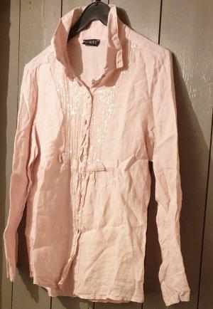 SEMPRE Blusa de lino rosa