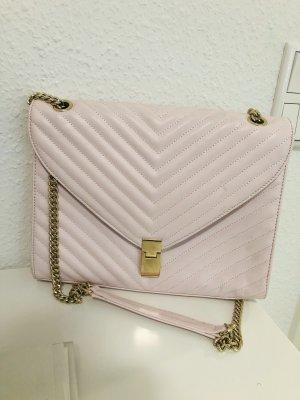 Rosane Tasche mit goldenen Elementen