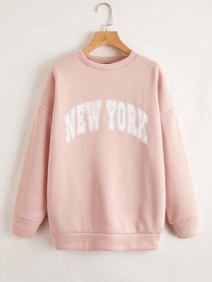 SheIn Crewneck Sweater light pink-pink