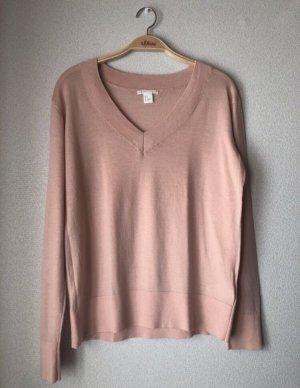 H&M V-Neck Sweater pink-pink