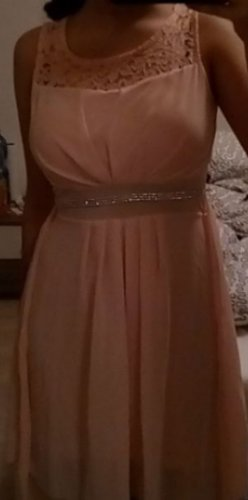 rosanes Abendkleid mit glitzer