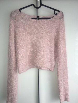 Alexander Wang for H&M Knitted Bolero light pink-white polyester