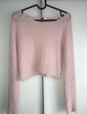 Alexander Wang for H&M Boléro en tricot rose clair-blanc polyester