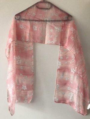 Fazzoletto da collo rosa-bianco Fibra tessile