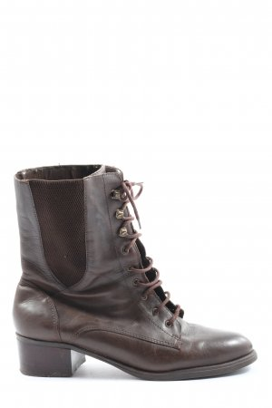 Rosargini Lace-up Booties brown street-fashion look