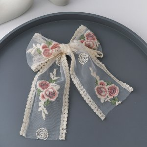 Hair Clip oatmeal-pink polyester