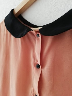 Rosé Bluse mit süßem Kragen