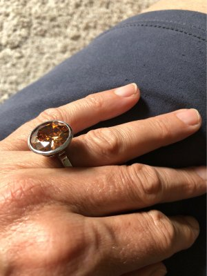 M&M Statement Ring silver-colored-gold orange