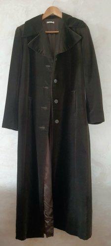 Manteau long brun foncé