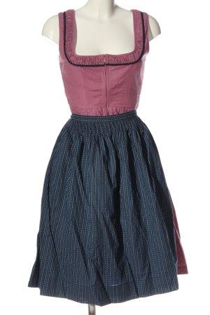 Rose Dirndl aus Bayern Dirndl rosa-blu motivo a righe stile classico