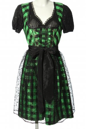 Rose Dirndl Dirndl grün-schwarz Allover-Druck Elegant