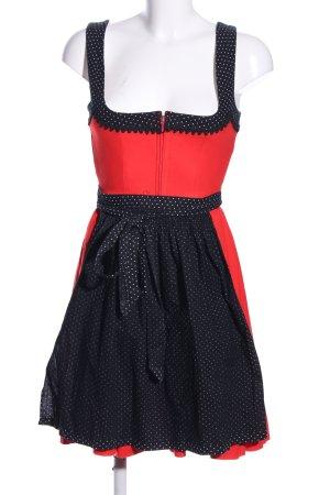 Rose Dirndl Dirndl rot-schwarz Punktemuster klassischer Stil