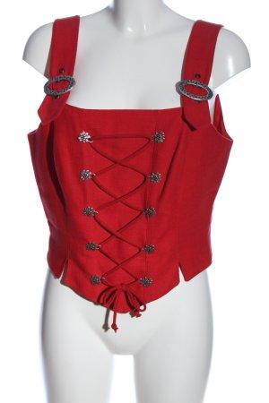 Rose Dirndl Trachtenbluse rot klassischer Stil