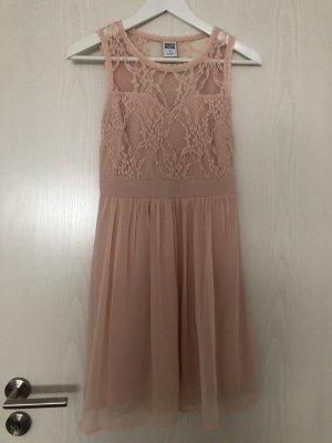 Rose-farbenes Spitzenkleid von Vero Moda XS