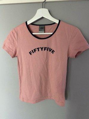 55 DSL Camiseta color rosa dorado Algodón