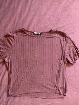 Only Prążkowana koszulka w kolorze różowego złota-różowy