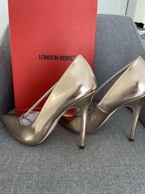 Rose Gold high heel Pumps