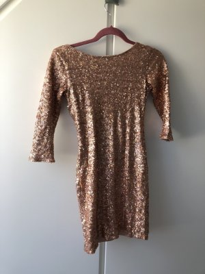 Rose gold sequin tunic 36