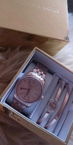 rosé goldene Armbanduhr von Michael Kors