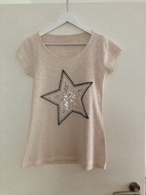 Rose meliertes T-Shirt der Italienischen Marke Planet Moda
