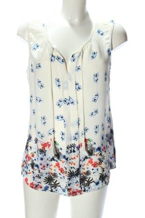 Rose + Olive ärmellose Bluse