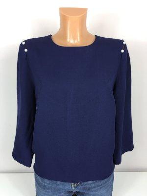 Rose & Olive Bluse Oberteil Shirt Hemd Blouson Gr. M/38 Marineblau