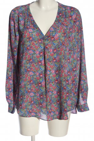 Rose + Olive Langarm-Bluse Allover-Druck Casual-Look
