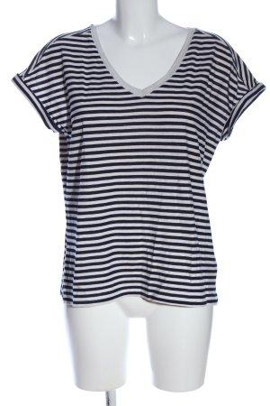 Rose + Olive Koszulka z dekoltem w kształcie litery V czarny-biały