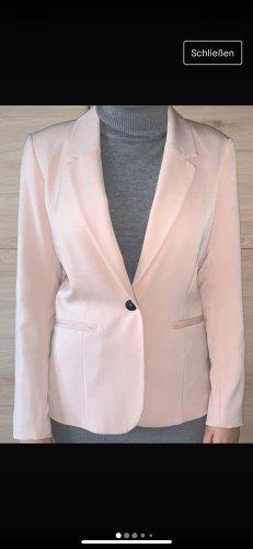 Only Blazer en tweed rosé-vieux rose