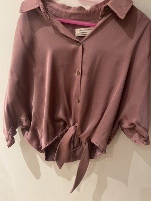 rosé pink knoten bluse urban outfitters