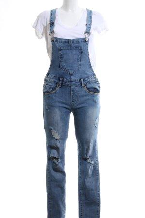 Jeans met bovenstuk blauw Jeans-look