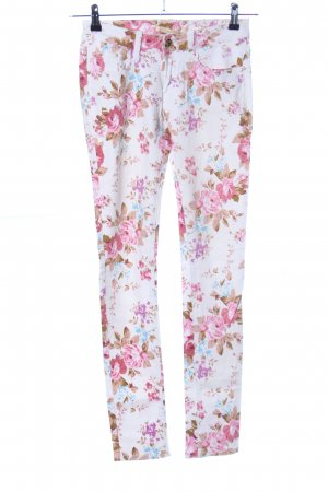 Rose Player Skinny Jeans Allover-Druck Casual-Look