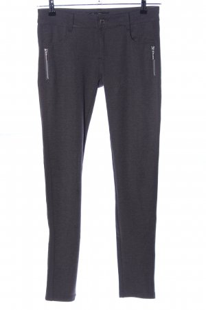 Stretch Trousers black-light grey flecked casual look