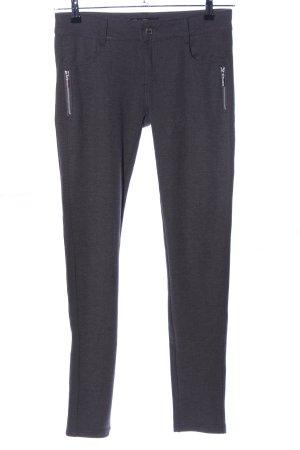 Pantalon strech noir-gris clair moucheté style décontracté