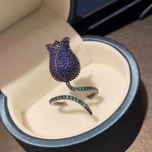 Pessina-Jewelry Anello d'oro blu-verde bosco