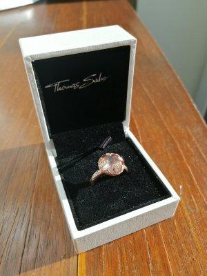 Rosé Ring mit Steinchen Gr. 50