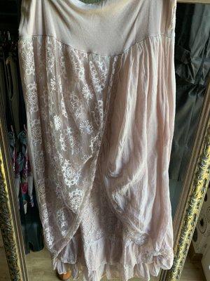 Koronkowa spódnica różany