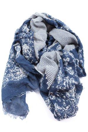 Rose & Rose Pañuelo folclórico azul-blanco estilo clásico