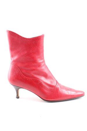 Reißverschluss-Stiefeletten rot extravaganter Stil