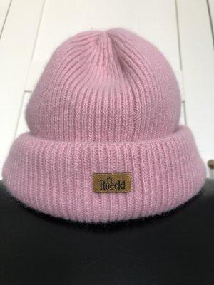 Roeckl Cappello a maglia rosa pallido