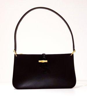 Roseau Longchamp Ledertasche Handtasche Tasche Schultertasche Clutch schwarz S