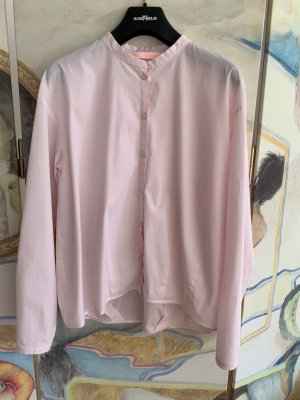 Roséfarbene Bluse in leichtem Ballonstil