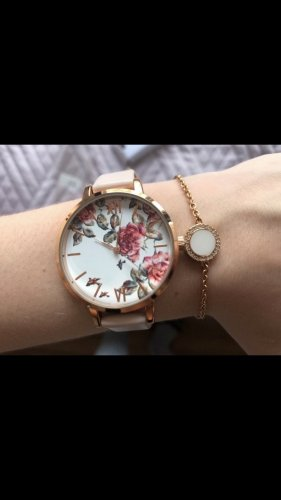 H&M Montre avec bracelet en cuir or rose