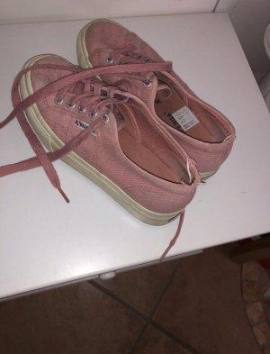 roséfarbene Plateau-Sneaker in Größe 37 von Superga